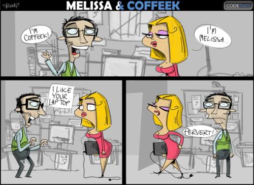 Melissa trifft den Coffeek