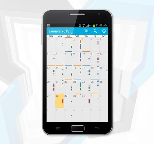 Exchange-Kalender auf einem Android-Smartphone
