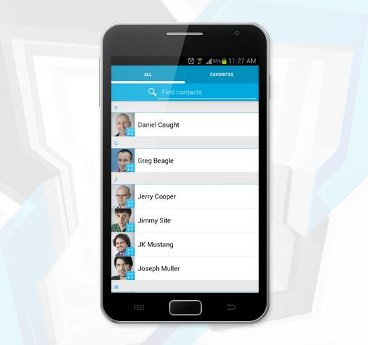 Exchange-Kontakte auf einem Android-Smartphone