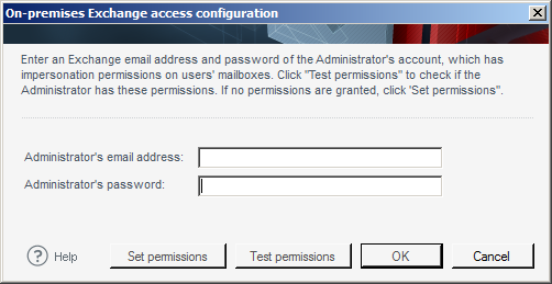 Eingabe der Zugangsdaten