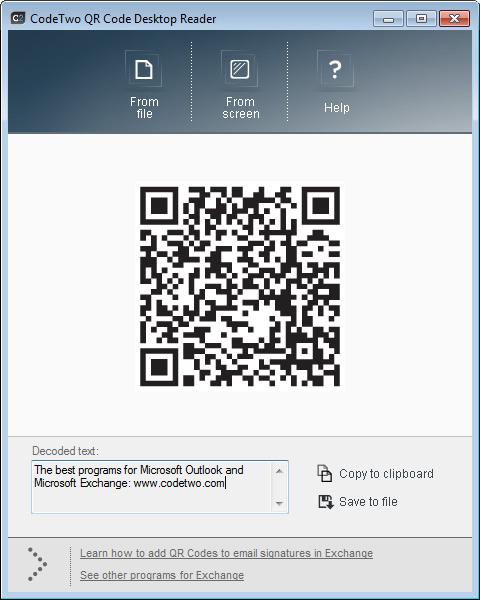 QR Code Desktop Reader