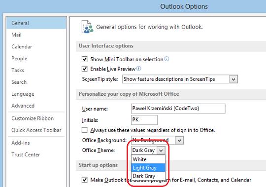 Outlook office hintergrund