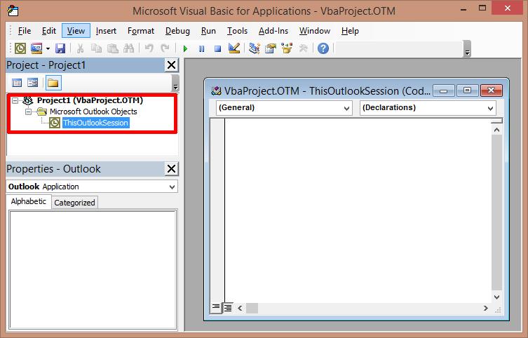 Outlook: VB-Fenster für Makros