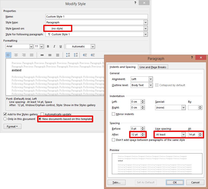 Einrichtung eines neuen Stils für Outlook-E-Mails