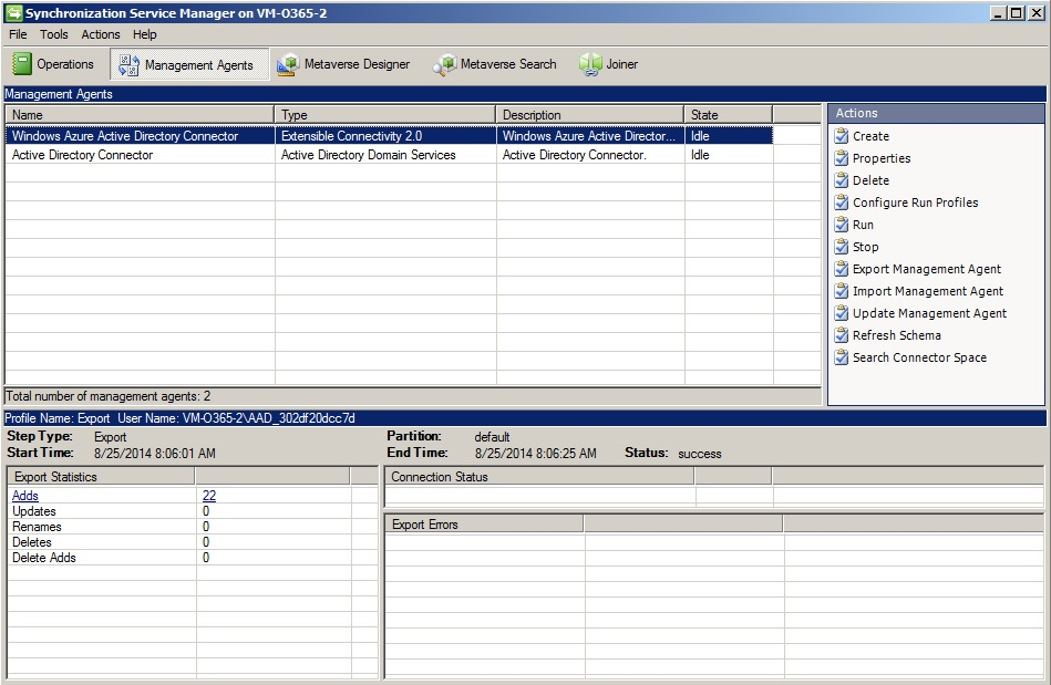 Konsole Synchronization Service Manager