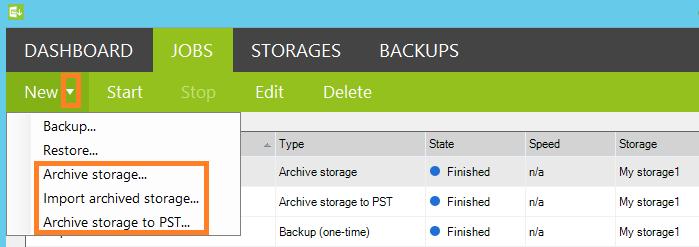 backup archive