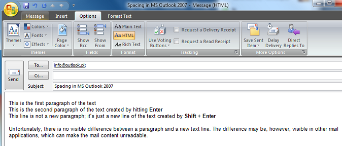 E-Mail in MS Outlook