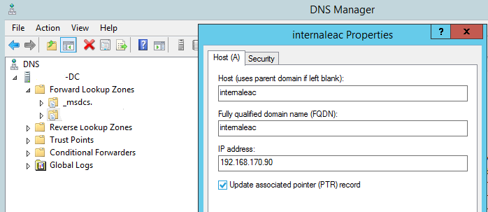 DNS-manager-window