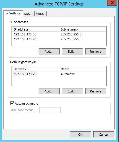 TCP-IP-settings
