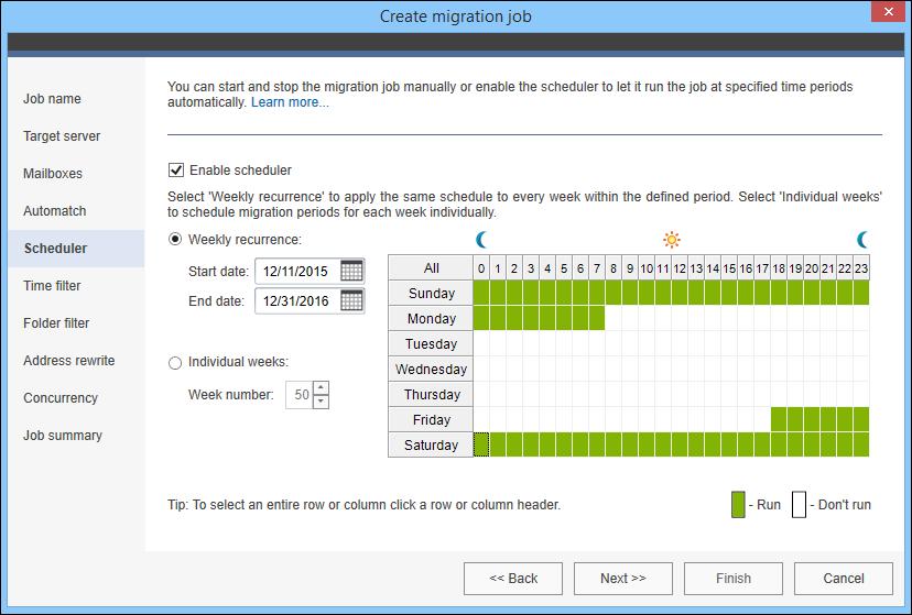 Scheduler-settings-in-migration-job