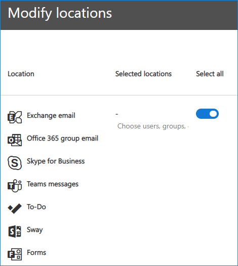Modify locations
