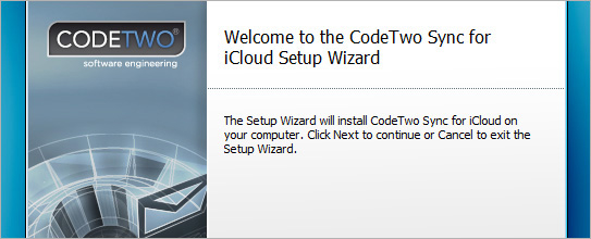 Welcome-to-CodeTwo-Sync-for-iCloud-Setup-Wizard
