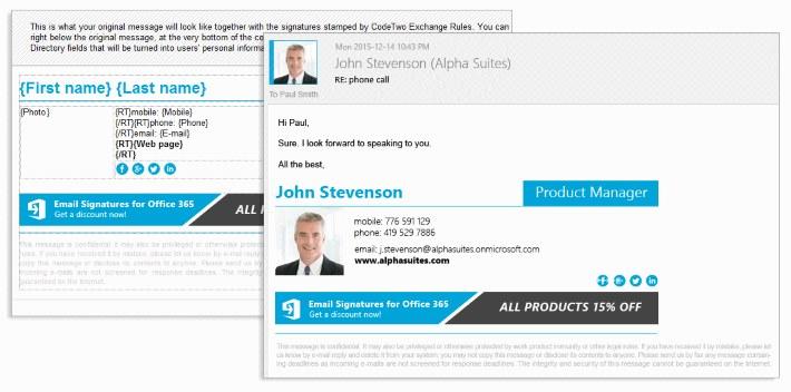 User photos in email signatures