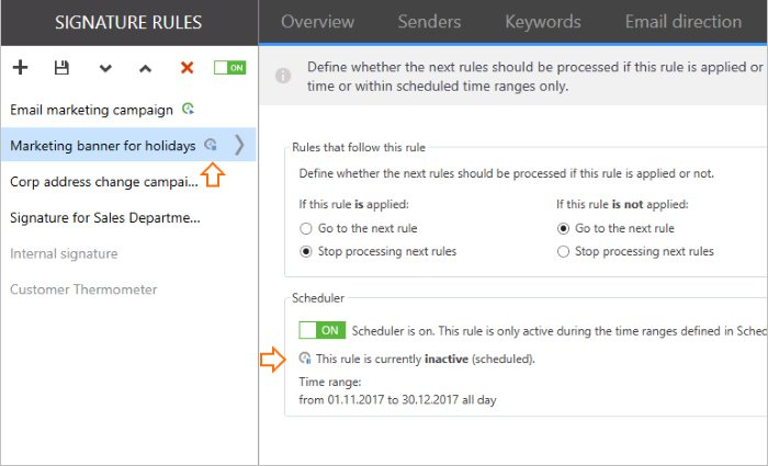 Scheduler custom time for holidays