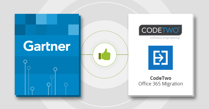 CodeTwo Office 365 Migration erwähnt in Gartner-Bericht