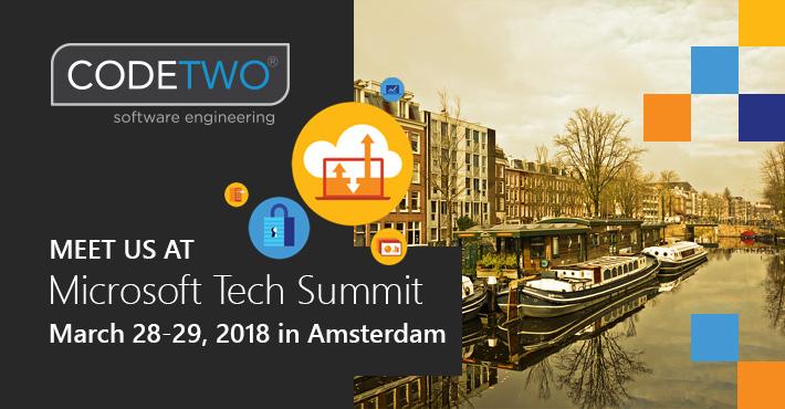 CodeTwo auf Microsoft Tech Summit 2018