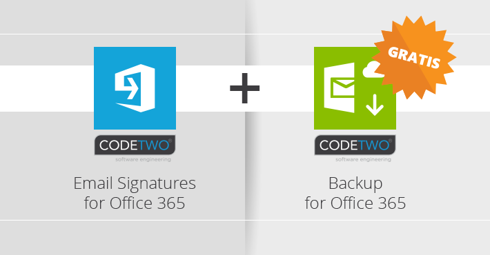 CodeTwo Email Signatures for Office 365 jetzt mit kostenlosem Backup-Tool
