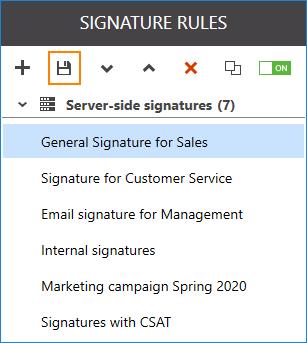 Signaturregel speichern