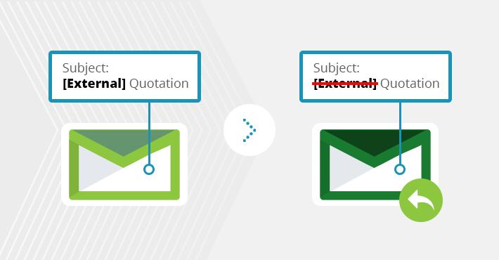 Wie entfernt man Keywords aus Betreff und Inhalt der Antworten in On-Premises-Exchange