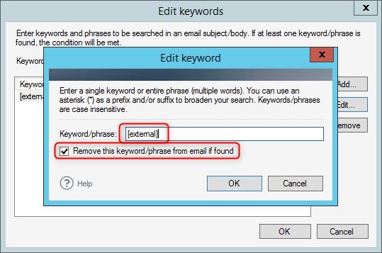 Keyword eingeben