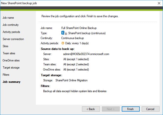 Backup-Job-Zusammenfassung