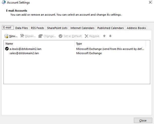 E-Mail-Kontoeinstellungen