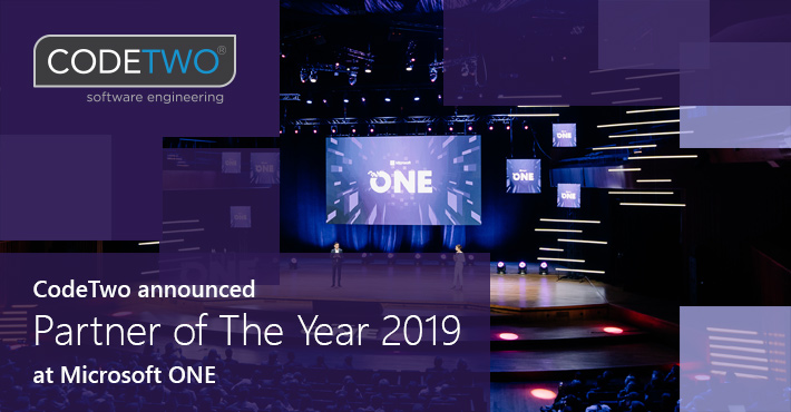 CodeTwo ausgezeichnet mit dem Microsoft Partner of the Year 2019 Award