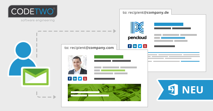 Neue Funktion: E-Mail-Signaturen angepasst an Empfänger