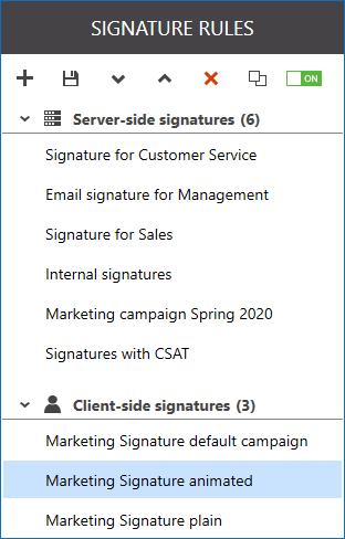 Lassen Sie Ihren Benutzern beliebige Signaturvorlage auswählen