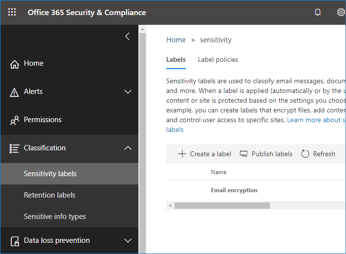Office 365 Security & Compliance Center