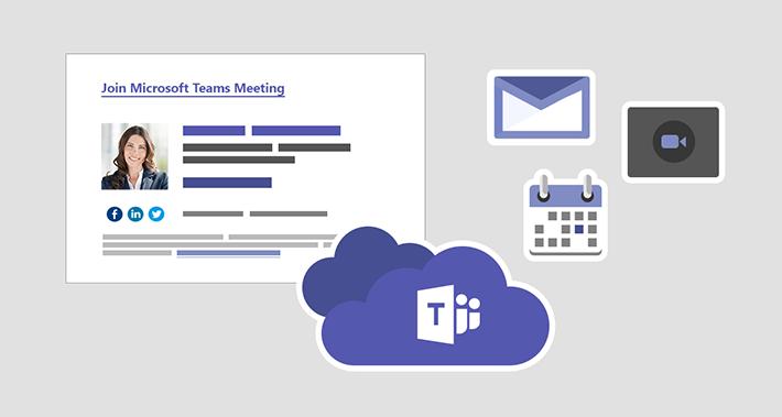 Signatur in Einladung für Teams-Besprechung