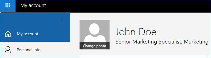 Fotoänderung in in Microsoft 365-Profil