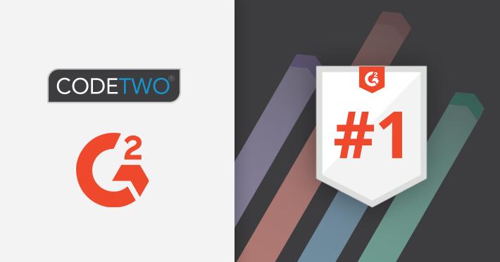 CodeTwo anerkannt als Leader bei G2