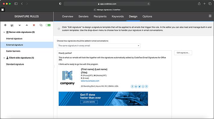 Neue, webbasierte Verwaltung von E-Mail-Signaturen
