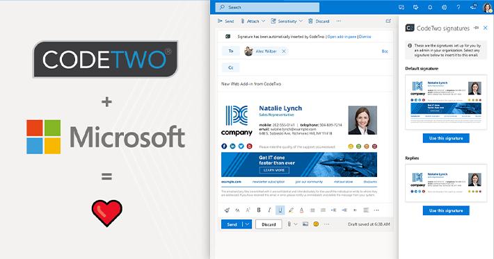 CodeTwo bringt als erstes das moderne Signatur-Web-Add-In für Outlook & OWA auf allgemeine Verfügbarkeit