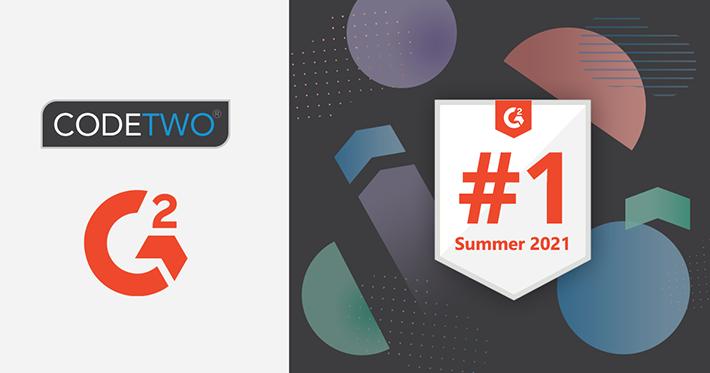 G2-Sommerberichte sind da! CodeTwo-Lösungen wieder mal mit zahlreichen Preisen