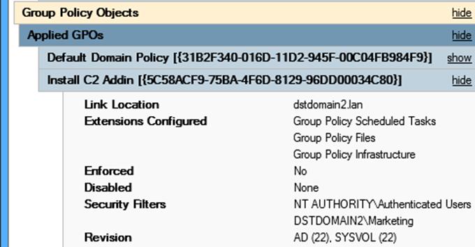 Über GPO-bereitgestellte Software überprüfen