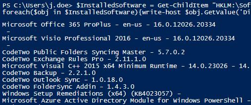 Installierte Software-Version in Registry abfragen