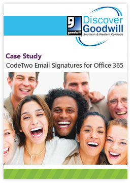 Fallstudie von Discover Goodwill - CodeTwo Email Signatures for Office 365