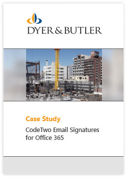 Email Signatures Office 365 Fallstudie Dyer and Butler