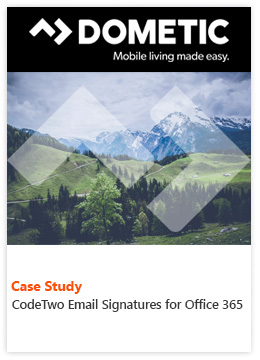 Fallstudie von Dometic Group - CodeTwo Email Signatures for Office 365