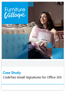 Fallstudie von Furniture Village - CodeTwo Email Signatures for Office 365