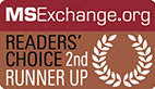 MSExchange.org Readers' Choice 2nd Runner Up
