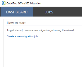 CodeTwo Office 365 Migration - Dashboard