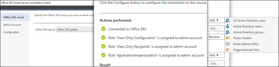 CodeTwo Office 365 Migration - Source Office 365 tenant connection