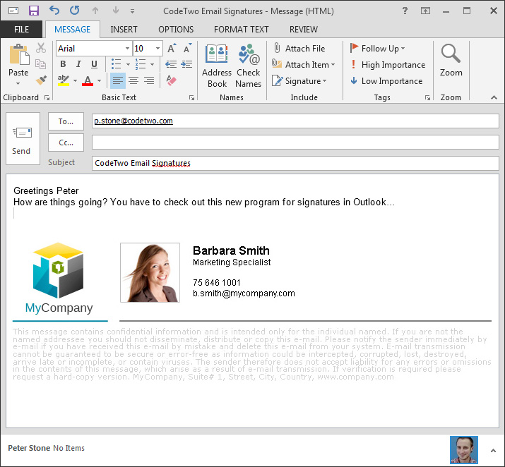 Codetwo Email Signatures For Email Clients Screenshots
