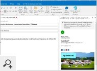 Signaturvorschau in Outlook von CodeTwo Email Signatures for Office 365