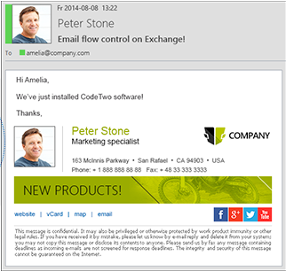 Email Signature solution