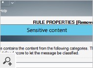 Exchange Rules Pro - sensitive content 3th