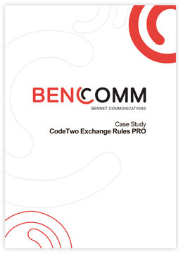 CodeTwo Exchange Rules Pro - Case Study by BenComm